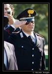 Il saluto alla bandiera del Maresciallo dei Carabinieri di Petacciato